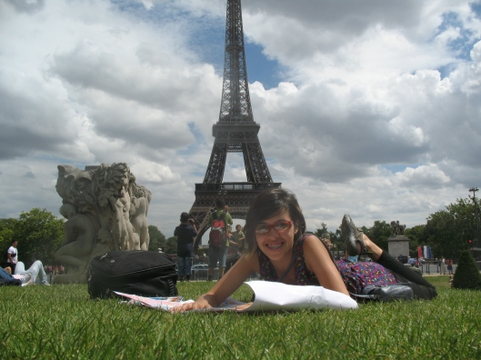 My eldest daughter in Paris the year she entered her senior year in College.  (June/2011)